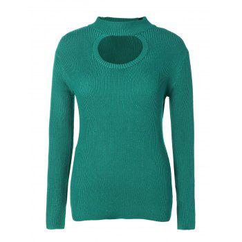 Cut Out Chest Plus Size Knitwear