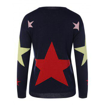 Star Graphic Sweater - CADETBLUE ONE SIZE