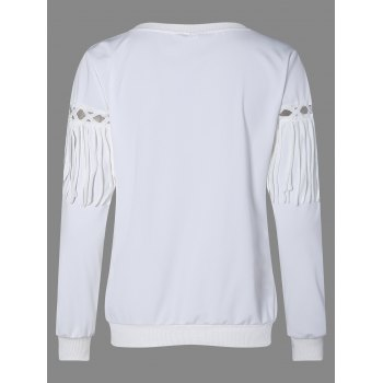 Fringed Openwork Sweatshirt - 2XL 2XL