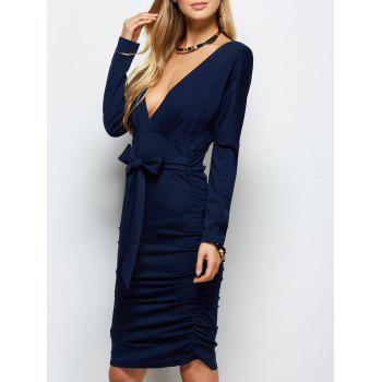 Ruched Open Back Bodycon Dress