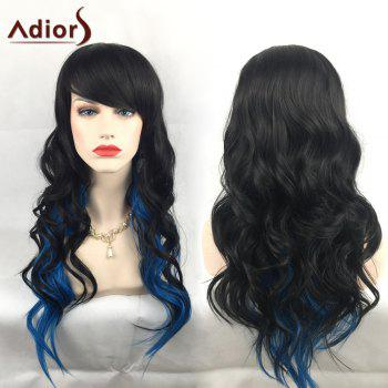 Adiors Long Colormix Wavy Oblique Bang Christmas Party Synthetic Wig