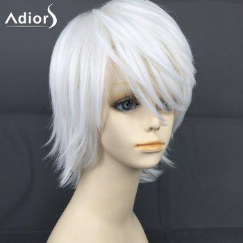 Adiors Short Straight Layered Oblique Bang Christmas Party Synthetic Wig