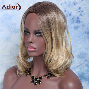 Shaggy Wavy Dark Auburn Synthetic Charming Medium Side Bang Synthetic Wig For Women - COLORMIX