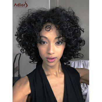 Medium Adiors Afro Curly Side Bang Synthetic Wig