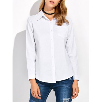 Stand Collar Button Up Shirt