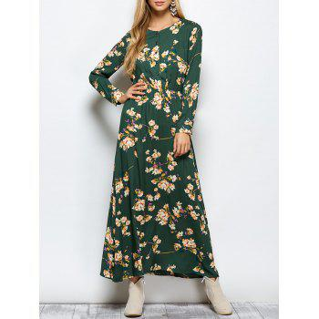 Maxi Floral Long Sleeve Casual Boho Dress