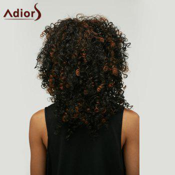 Highlight Adiors Medium Afro Curly Side Bang Synthetic Wig - COLORMIX