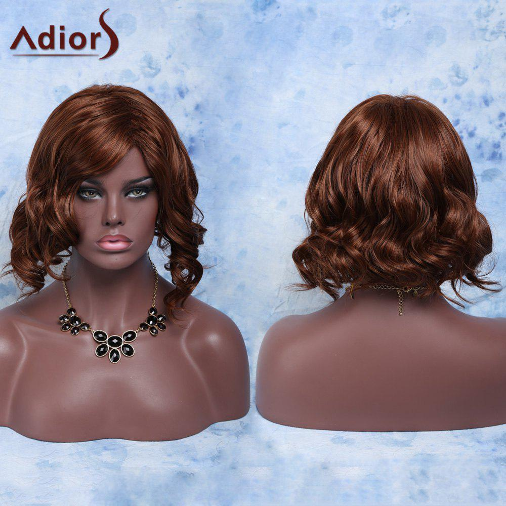High Temperature Short Side Parting Fluffy Curly Fiber WigHair<br><br><br>Color: RED BROWN