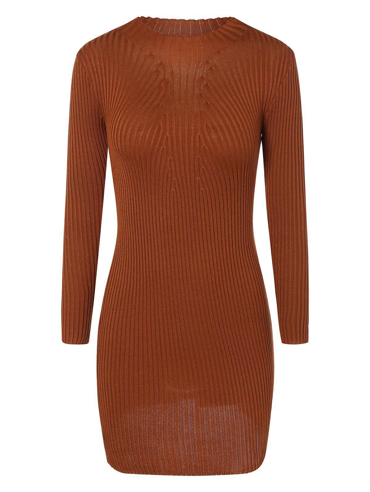Ribbed Bodycon Mini Jumper Dress 203463001