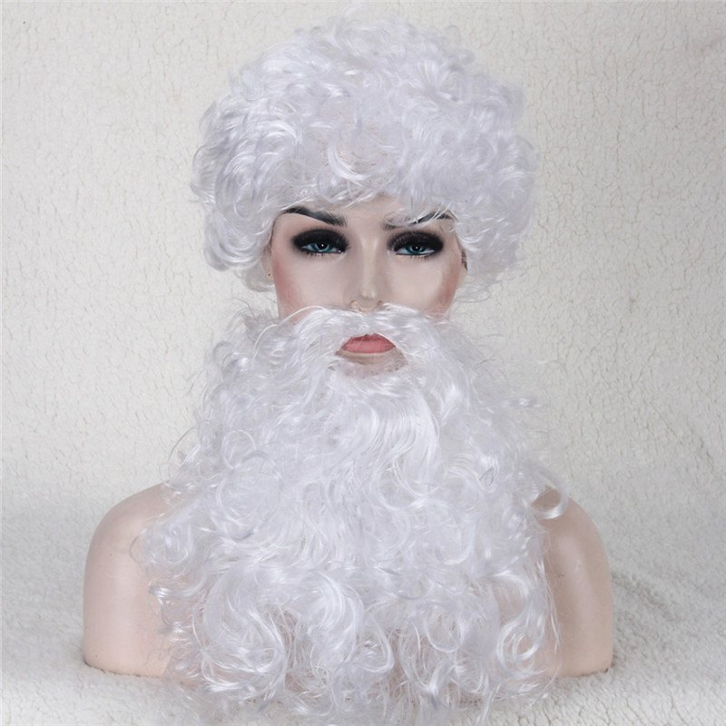 Christmas Party Santa Claus Cosplay Synthetic Wig