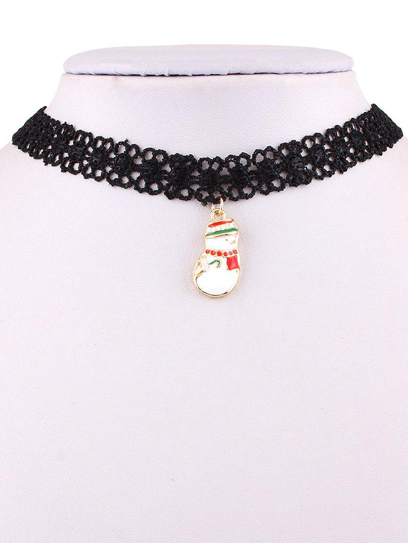 Christmas Snowman Lace Necklace