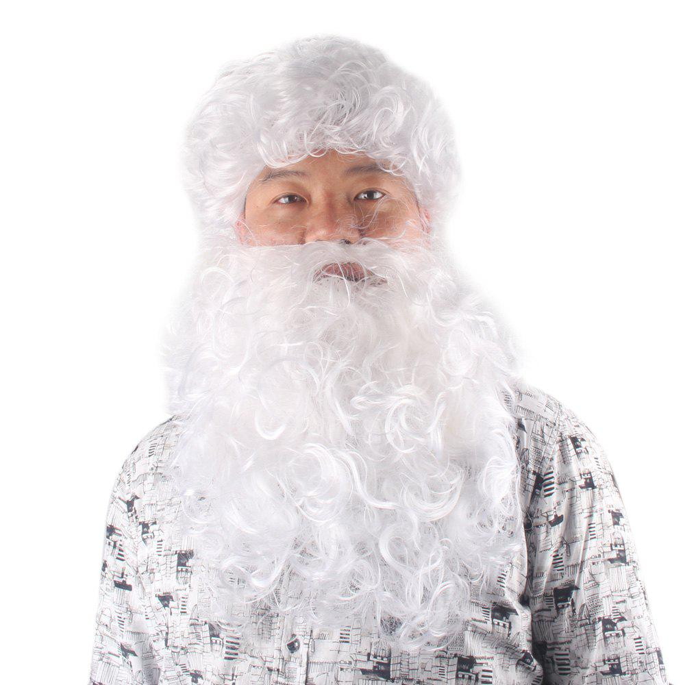 Christmas Party Fluffy Curly Santa Claus Cosplay Synthetic Wig