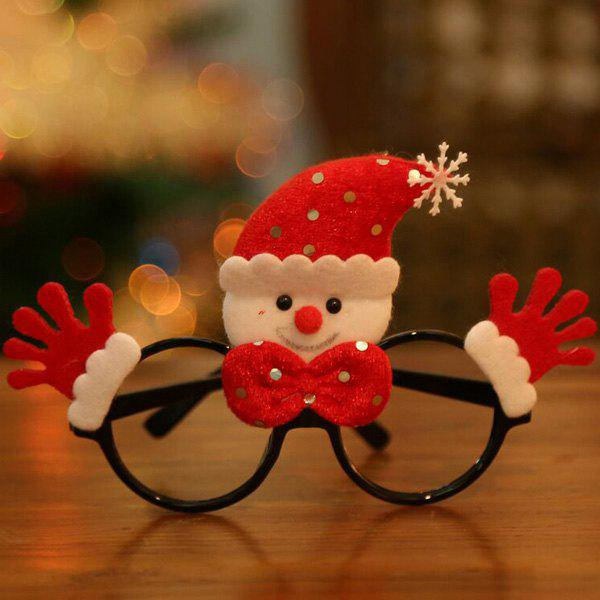 Christmas Snowman Cartoon Glasses Frame - RED