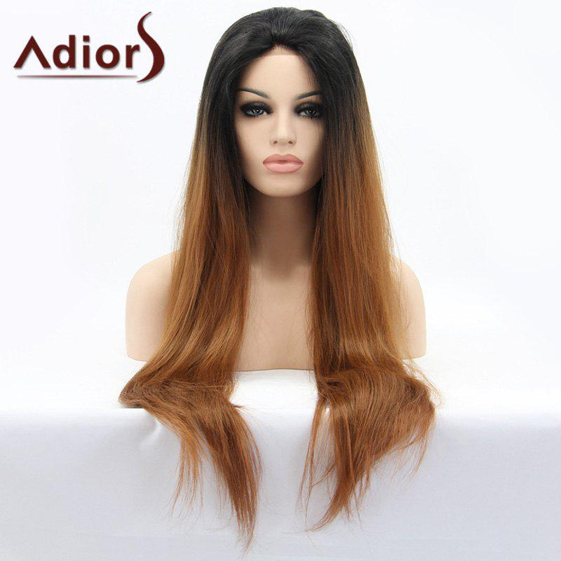 Long Color Mixed Adiors Hair Straight Lace Front Synthetic Wig n2 30 fashion reddish auburn color long straight texture synthetic lace front wig drag queen cosplay wig