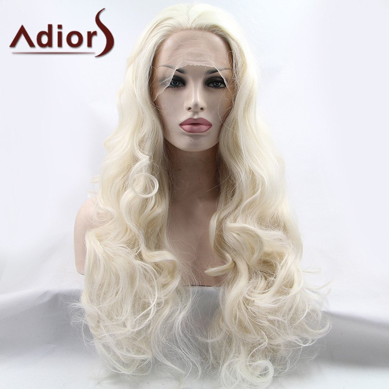 Gorgeous Long Wavy Adiors Hair Lace Front Synthetic Wig