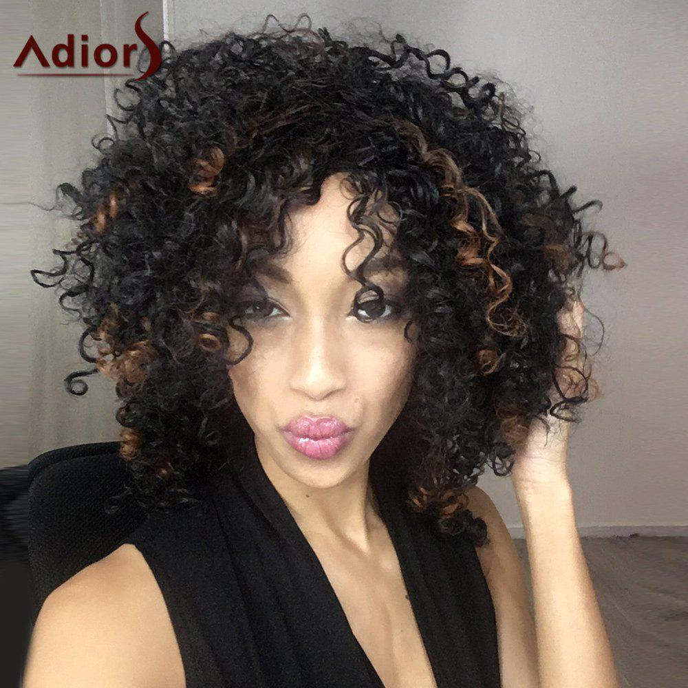 Stupendous Womens Impressive Medium Side Bang Black Afro Curly Synthetic Hairstyles For Men Maxibearus