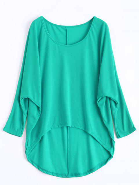 Dolman Sleeve Asymmetrical Tee - GREEN XL