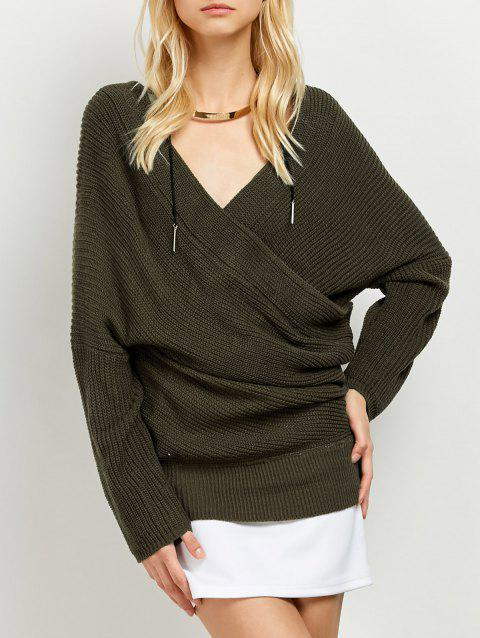 Surplice Sweater - ARMY GREEN ONE SIZE