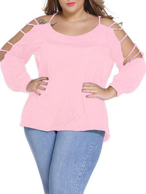 T-shirt manches longues grande taille - Rose XL