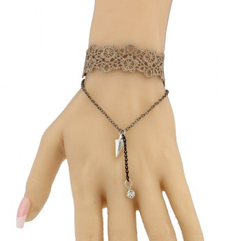 Floral Triangle Hollow Out Bracelet - BROWN BROWN