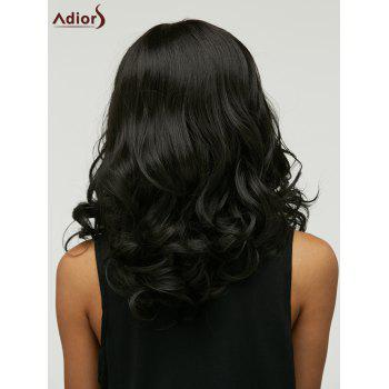 Curly Medium Adiors High Temperature Fiber Wig - BLACK