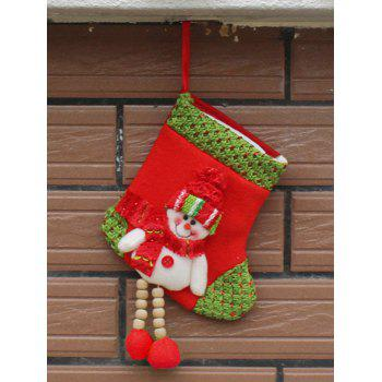 Christmas Decor Snowman Hanging Stocking Present Bag