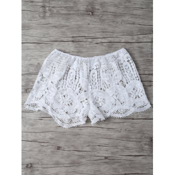 Lace Crochet Openwork Cover Up Shorts