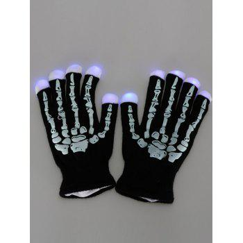 Party Supplies Skull Flashing Fingertip LED Light Gloves