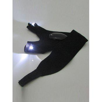 1PCS Left Hand Outdoor Flash Torch Cover LED Gloves