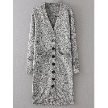 V Neck Long Knitted Cardigan