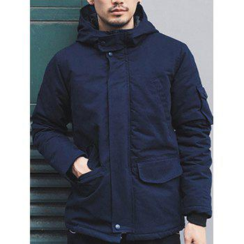 Pockets Design Hooded Jacket