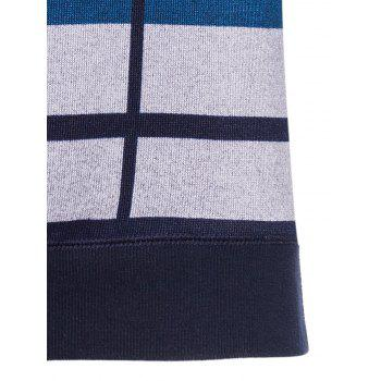 Vertical Striped Color Block Crew Neck Knitting Sweater