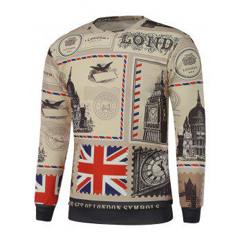 Big Ben Print Crew Neck Sweatshirt