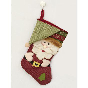 Christmas Decor Santa Pattern Kids Present Sock - COLORMIX COLORMIX