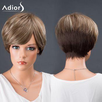 Adiors Hair Side Bang Short Colormix Srtraight Synthetic Wig