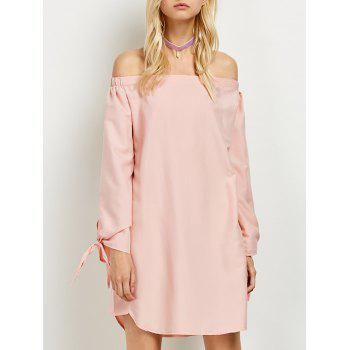 Long Sleeve Mini Off The Shoulder Casual Teen Dress