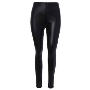 Zipper Ankle Length Leggings