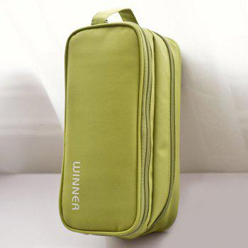 Letter Print Waterproof Cosmetic Bag - GREEN GREEN