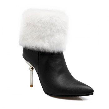 Heeled Pointed Toe Fold Down Boots