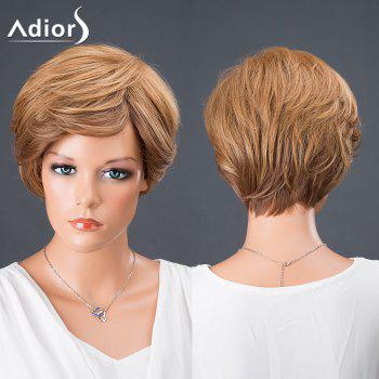 Adiors Hair Side Bang Short Colormix Boy Cut Srtraight Synthetic Wig