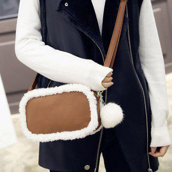 Pompon Plush Insert Crossbody Bag