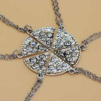 6PCS Carving Sector Friendship Necklace