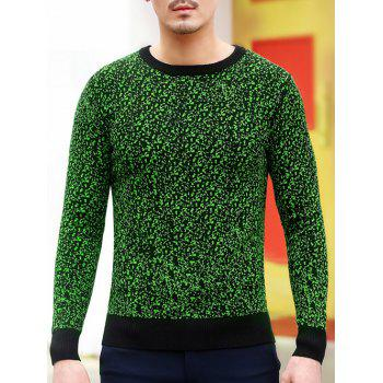 Slim Fit Crew Neck Space Dye Sweater