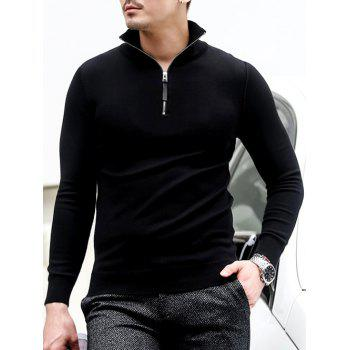 Half Zip Polo Sweater in Slim Fit