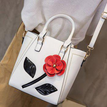 Zipper Stitching Flower Tote Bag