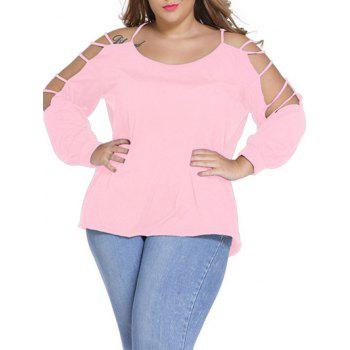 Plus Size Long Sleeve Cut Out Tee