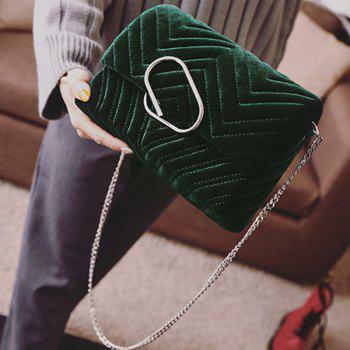 Covered Closure Stitching Clip Crossbody Bag