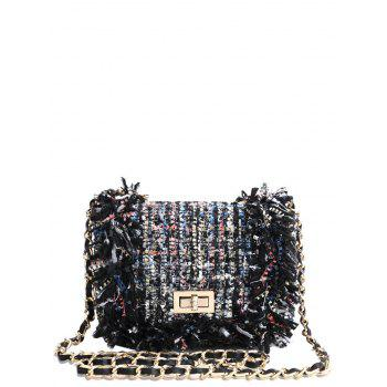 Argyle Twist-Lock Closure Chain Crossbody Bag