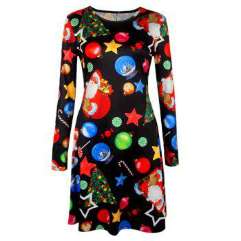 Knee Length Christmas Tree Star Dress