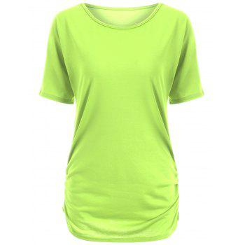 Candy Color Ruched Tee